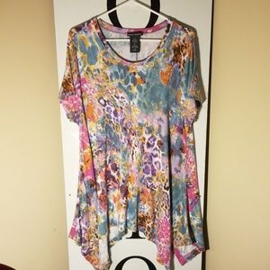 Chelsea and Theodore Multi Color Tunic Top XXL